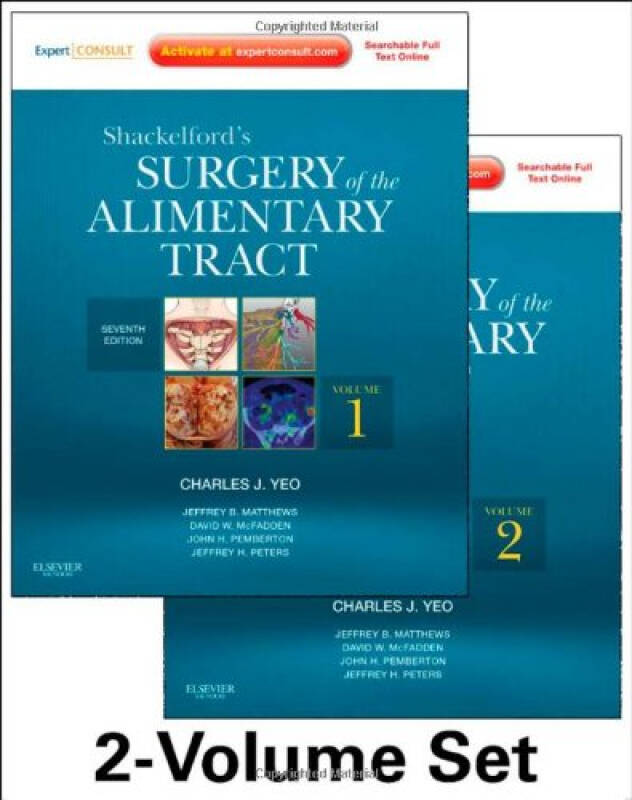 Shackelfords Surgery of the Alimentary Tract - 2 Volume Set, 7e