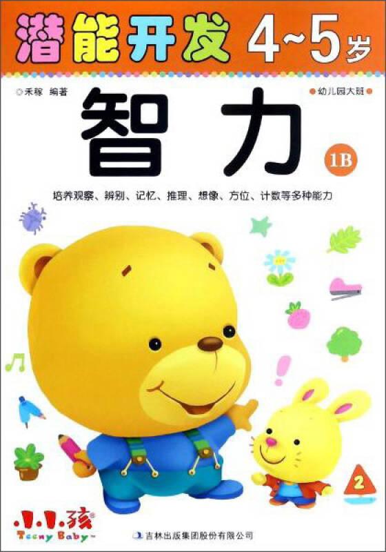 智力(4-5岁幼儿园大班1B)/潜能开发