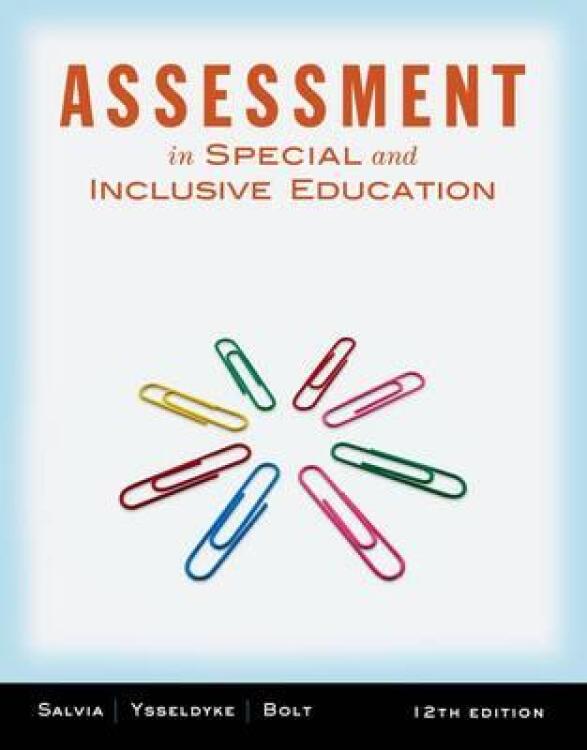 Assessment:InSpecialandInclusiveEducation
