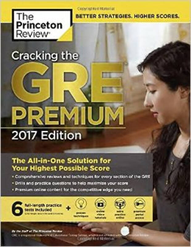 Cracking the GRE Premium Edition with 6 Practice