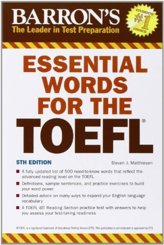 Essential Words for the TOEFL: 5th Edition (Barrons Essential Words for the TOEFL)