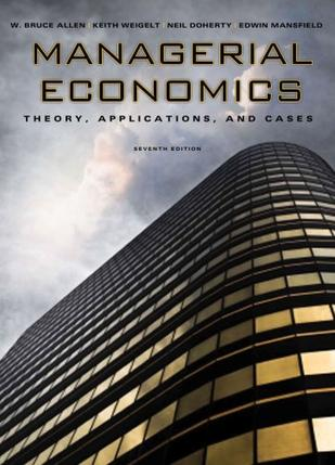 Managerial Economics (Seventh Edition)