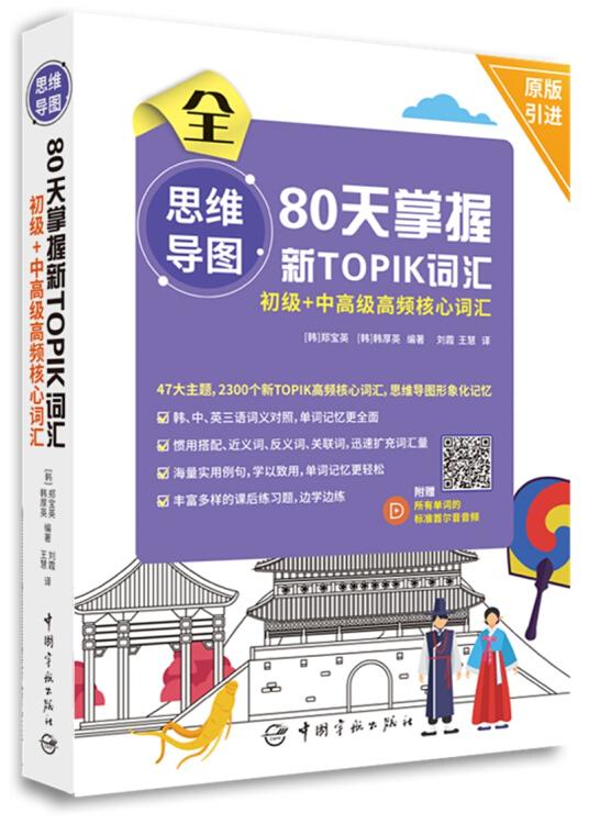 思维导图80天掌握新TOPIK词汇初级+中高级高频核心词汇(附所有单词的标准首尔音音频)