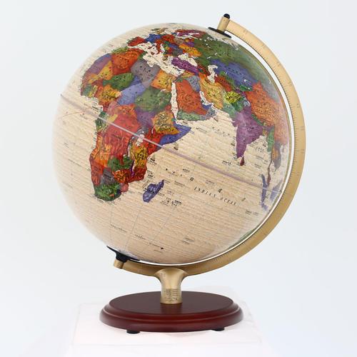博目地球仪:32cm中英文政区仿古灯光地球仪(AR功能)