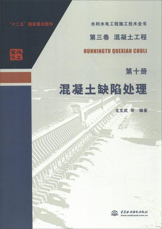 水利水电工程施工技术全书(第三卷)·(混凝土工程 第十册):混凝土缺陷处理