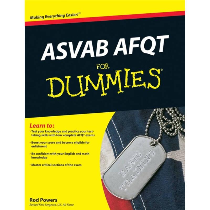 ASVAB AFQT For Dummies[For Dummies 美国兵种倾向选择测验复习]