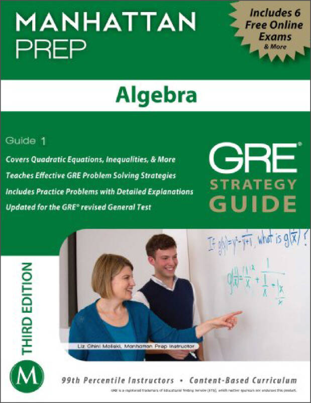 Algebra GRE Strategy Guide, 3rd Edition (Manhattan Prep Strategy Guides)