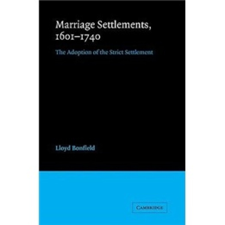 MarriageSettlements,1601–1740