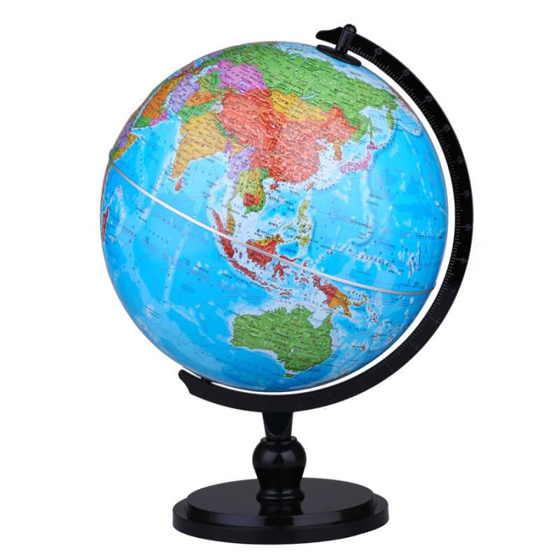 博目地球仪:25cm中文政区AR地球仪(炫影黑架)