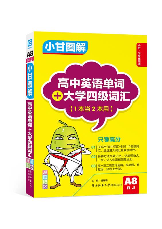小甘图解 高中英语单词+大学四级词汇