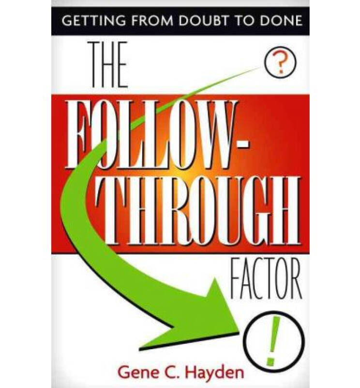 The Follow-Through Factor  Getting from Doubt to