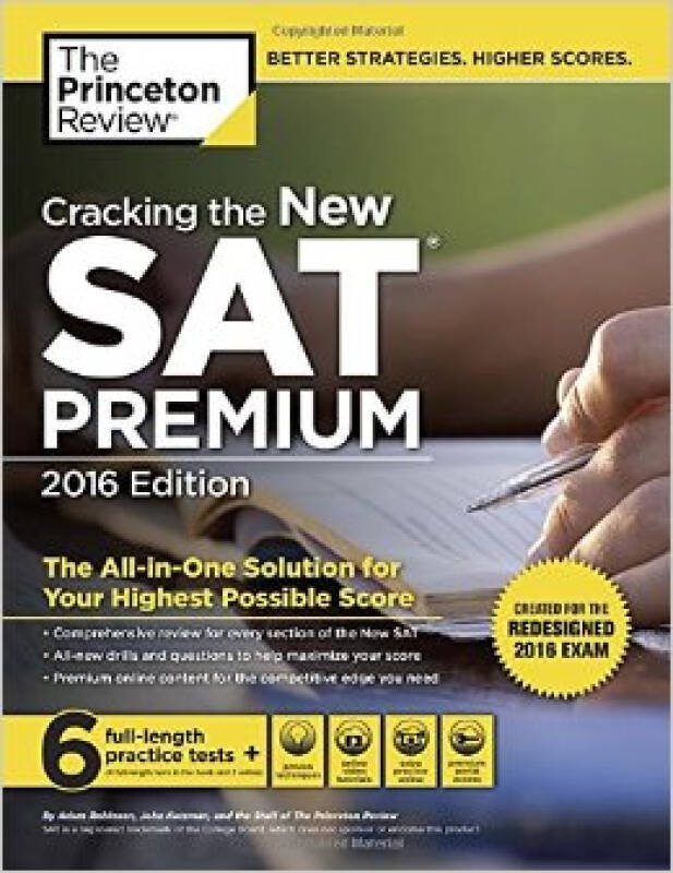 Cracking the New SAT Premium Edition with 6 Prac