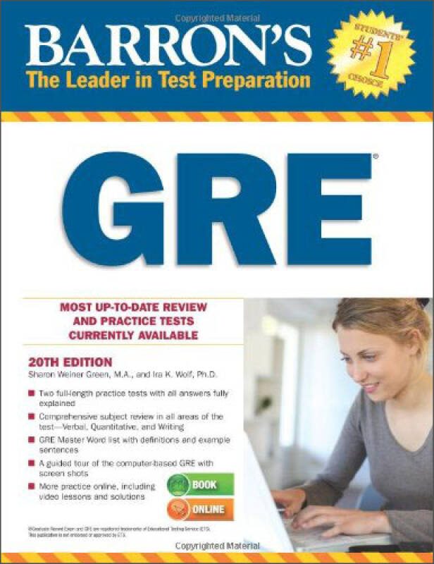 Barrons GRE, 20th Edition