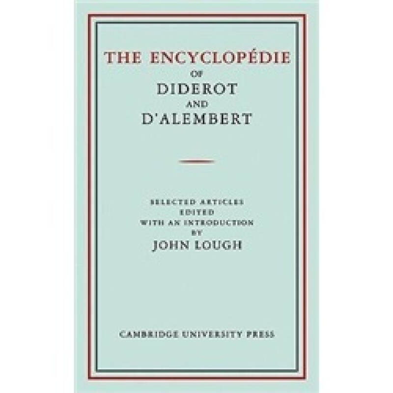 The Encyclop?die of Diderot and DAlembert: Selected Articles