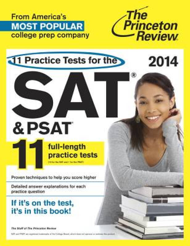 11 Practice Tests for the SAT and PSAT, 2014 Edition SAT & PSAT的11个练习