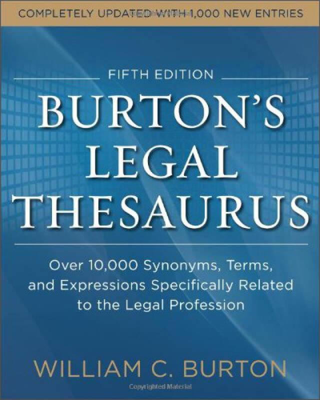Burtons Legal Thesaurus