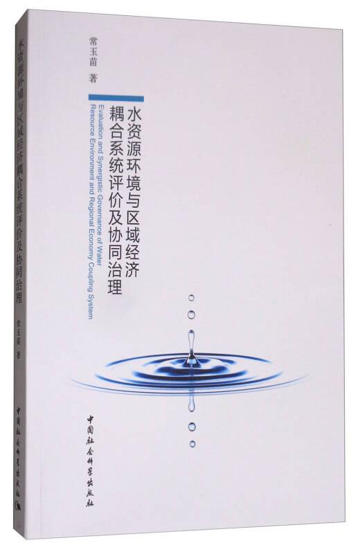 水资源环境与区域经济耦合系统评价及协同治理