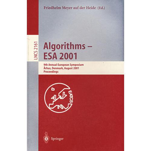 Algorithms - ESA 2001 算法—ESA 2001
