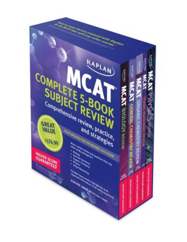 Kaplan MCAT Premier Complete 5-book Subject Review