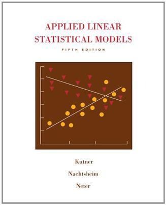 Applied Linear Statistical Models