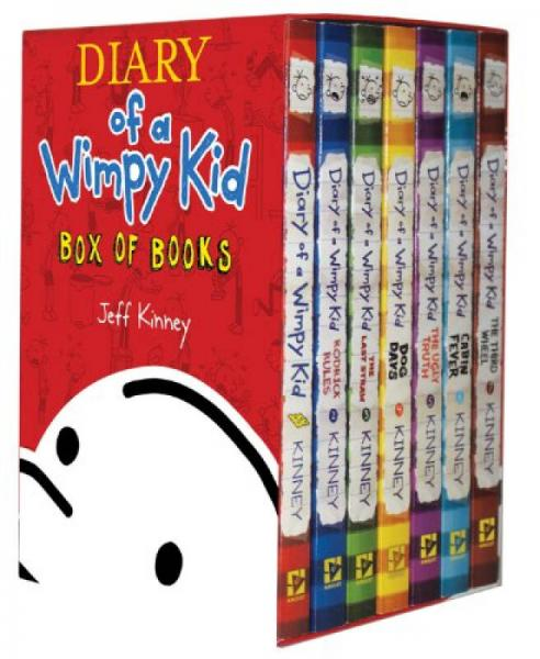 Diary of a Wimpy Kid Box of Books, Volumes 1 - 7  小屁孩日记套装 1-7