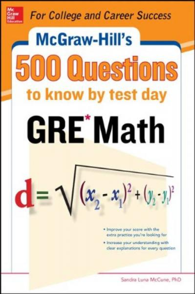 Mcgraw-Hill Education 500 Gre Math Quest