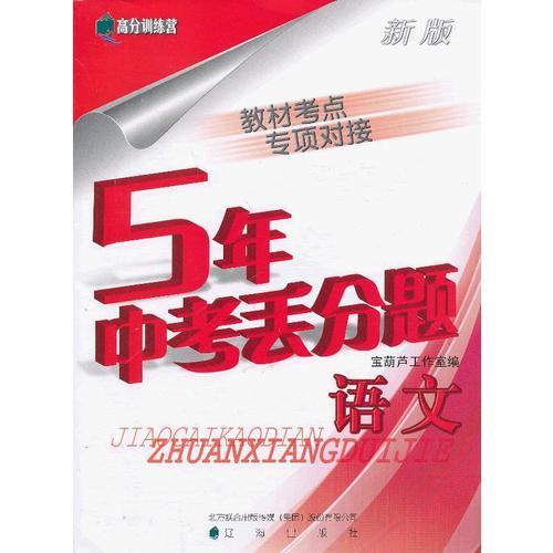 (2013版)新版5年中考丢分题 语文