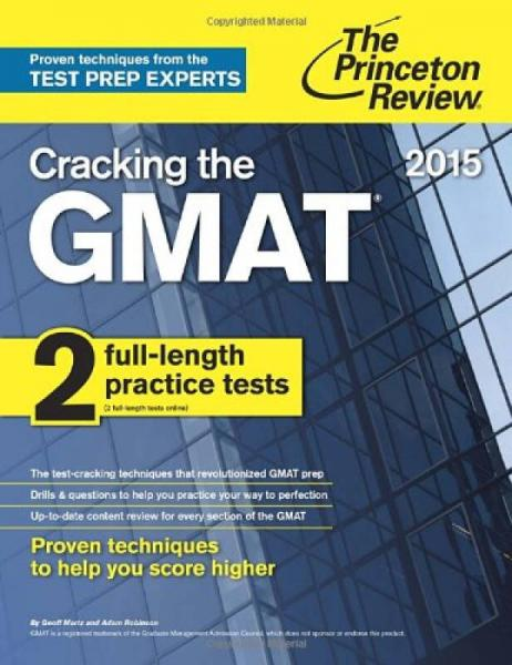 Cracking the GMAT with 2 Practice Tests, 2015 Edition