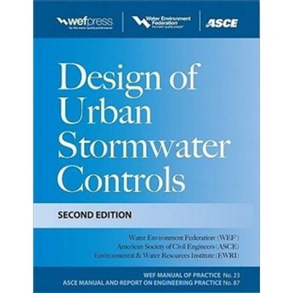 DesignofUrbanStormwaterControls,MOP23,2ndEdition:MOP23