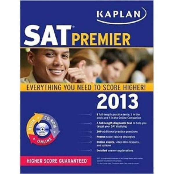 Kaplan SAT 2013 Premier with CD-ROM