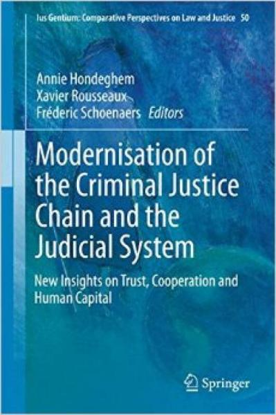 Modernisation of the Criminal Justice Chain and
