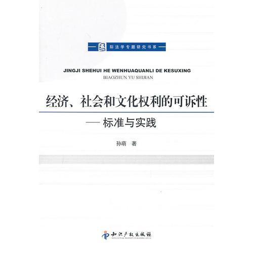经济、社会和文化权利的可诉性-标准与实践