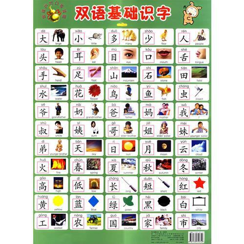 双语基础识字·金葫芦凹凸版挂图(注音版)