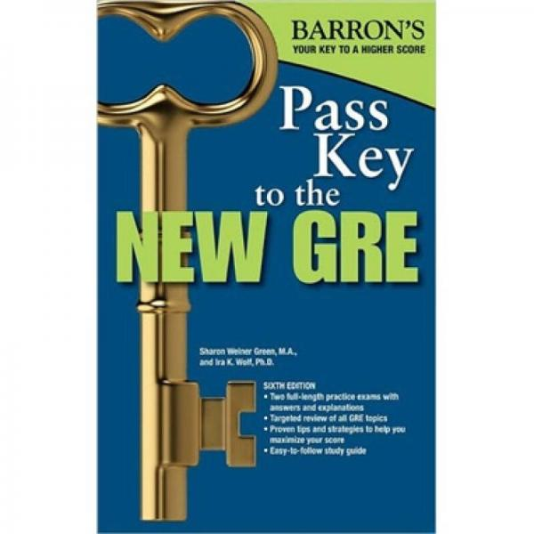 Pass Key to the New GRE (Barrons Pass Key to the GRE) 英文原版