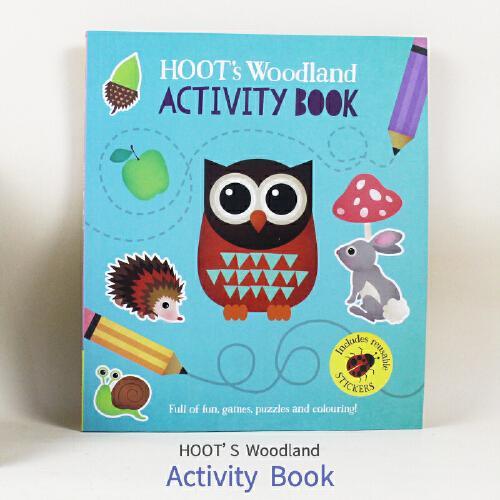 英文原版Hoots Activity Book猫头鹰的黑板书