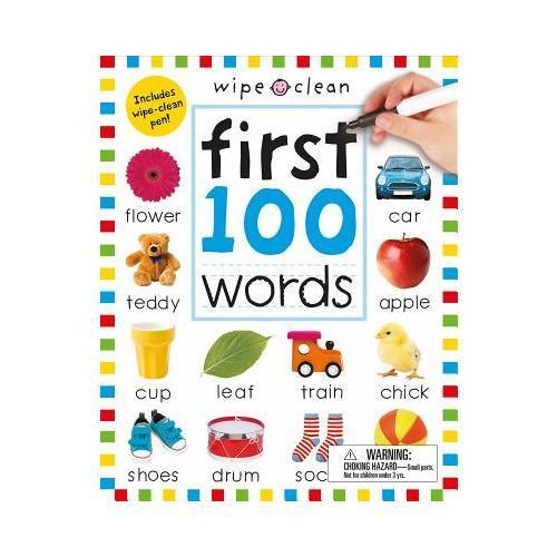 【预订】Wipe Clean: First 100 Words (Enclosed Spiral Binding)  Includes Wipe Clean Pen