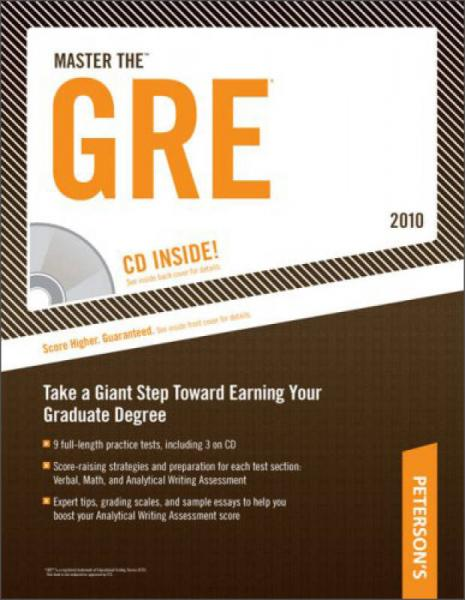 Master The GRE - 2010 (Petersons Master the GRE (w/CD))