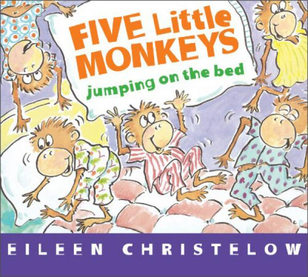 Five Little Monkeys Jumping on the Bed   Board book    五个小猴子在床上跳 英文原版