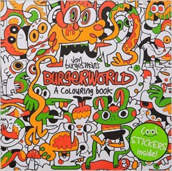 Jon BurgermanS Burgerworld: A Colouring Book  乔恩汉堡的汉堡世界:填色书