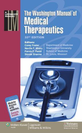 The Washington Manual of Medical Therapeutics, 33rd Edition