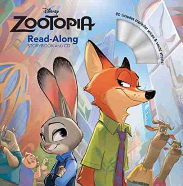 Zootopia Read-Along Storybook & CD《疯狂动物城》童书带伴读CD 英文原版