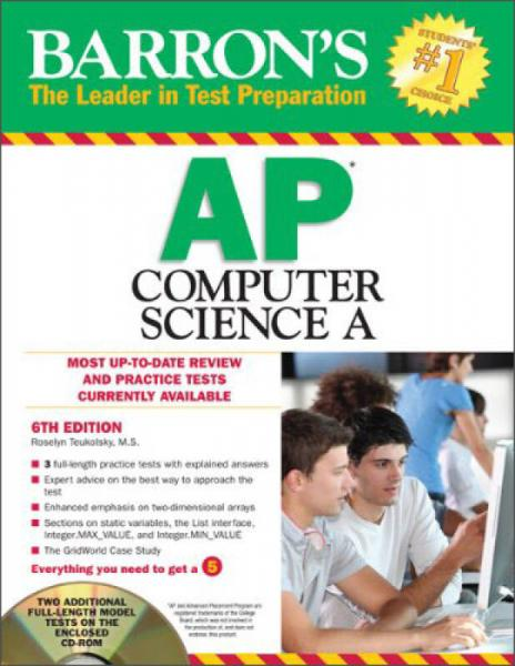 Barrons AP Computer Science A with CD-ROM, 6th Edition