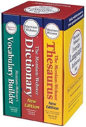 Merriam Webster's Everyday Language Reference Set:The Merriam-Webster Dictionary/the Merriam-Webster Thesaurus/Merriam-Webster's Vocabulary Builder