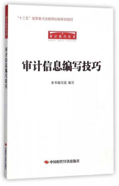 审计信息编写技巧/审计技巧丛书