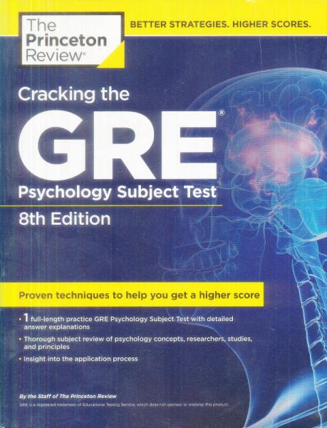 Cracking the GRE Psychology Subject Test[击破GRE心理学,第八版]