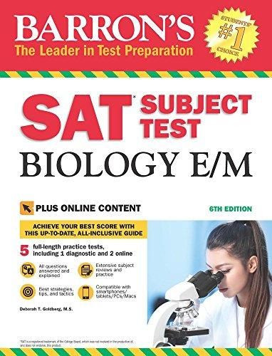 SAT Subject Test Biology E/M: 6th Ed w/online test