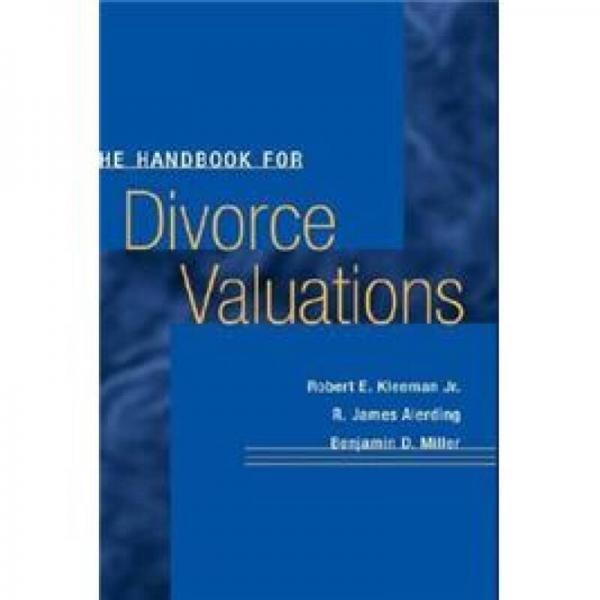 The Handbook for Divorce Valuations