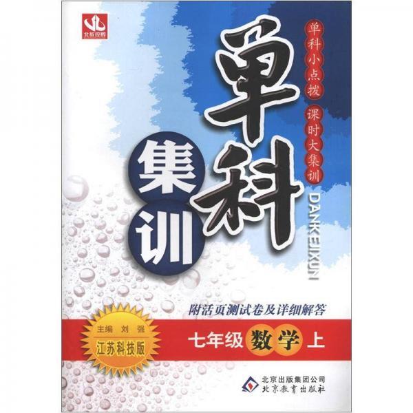 单科集训:7年级数学(上)(江苏科技版)