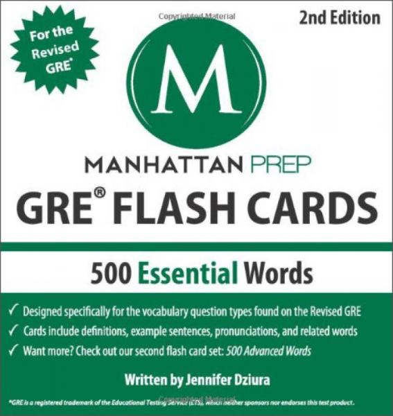 500 Essential Words: GRE Vocabulary Flash Cards