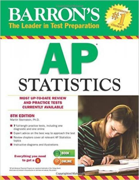Barrons AP Statistics, 8th Edition